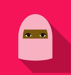Beautiful face of arabic muslim woman vector