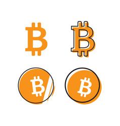 bitcoin logo design template vector image