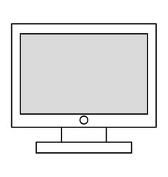 black line computer monitor vector image