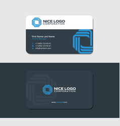 Business card technology blue color vector