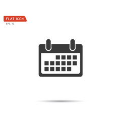 calendar icon logo eps10 vector image