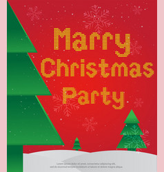 card marry christmas party vector image