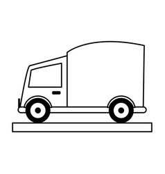 Cargo or delivery truck icon image vector