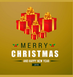 christmas greetings card design with elegant vector image