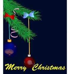 Christmas pine vector image
