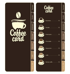 coffee card vector image