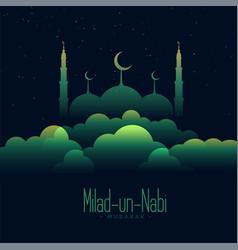 Creative background eid milad un nabi festival vector