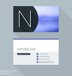 Creative Business Card Template Letter N Flat vector