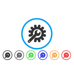Customization tools rounded icon vector