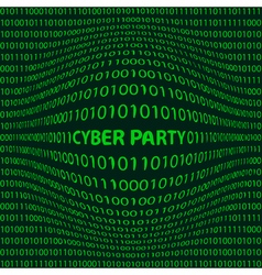 Cyber party background vector