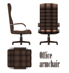 Deluxe office armchair isolated on white vector