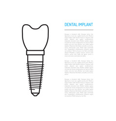 Dental implant vector