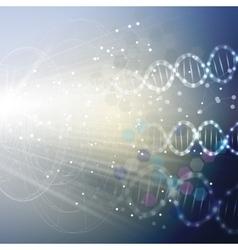 DNA molecule structure on light blue background vector