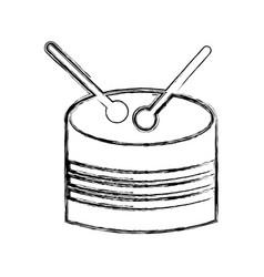 Drump toy instrument icon vector