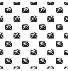 Envelope bribery money pattern seamless vector