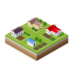 farm set houses vector image