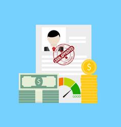 finance credit loan business money vector image