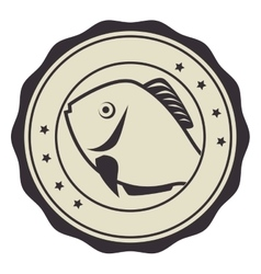 Fish seafood menu icon vector