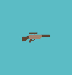 flat icon sniper rifle element vector image