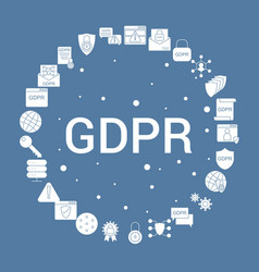 Gdpr icon set infographic template vector