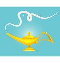 golden magic lamp design vector image