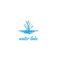 Grass cattail reed river creek lake swamp icon vector