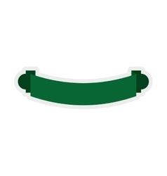 Green ribbon icon Label design graphic vector