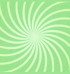 Green spiral vintage vector