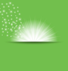 green sun rays vector image