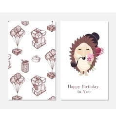 Happy birthday Stylish inspiration card in cute vector image