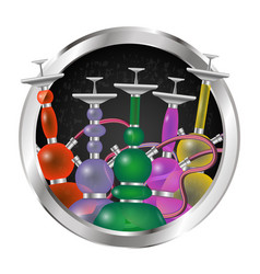 hookahs set in a circle vector image