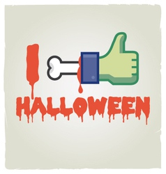 I like halloween vector