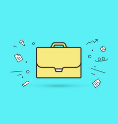 icon of briefcase vector image