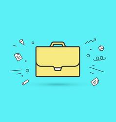 Icon of briefcase vector