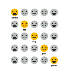 Icons emoticons for rating or review feedback vector