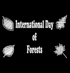 international day of forests vector image