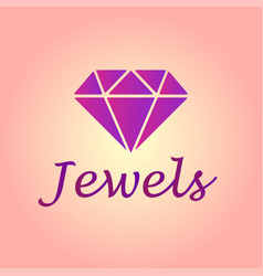 Isolated brilliant icon jewel element can vector
