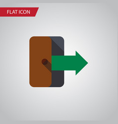 isolated exit flat icon directional vector image vector image