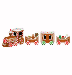isolated gingerbread train vector image
