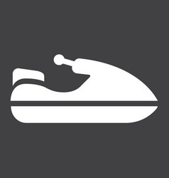 jet ski glyph icon transport and vehicle vector image