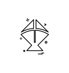 Kite icon design vector