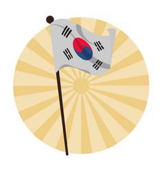 Korea flag symbol vector