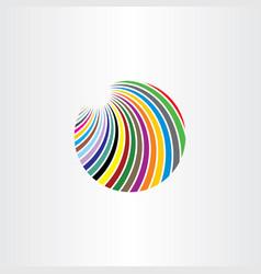 logo colorful circle abstract vector image