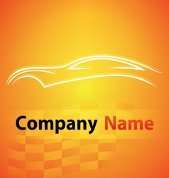 Logo garage auto motor car vector