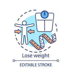 Lose weight concept icon vegetarian nutrition vector