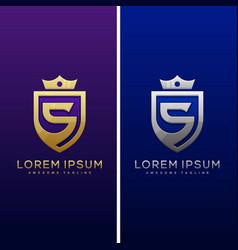 Luxury letter s concept design template vector