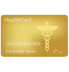 Medical insurance card medical service concept vector