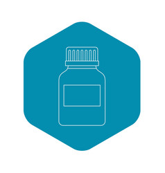 medicine bottle icon outline style vector image