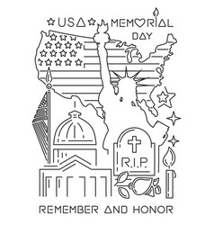 memorial day design concept vector image