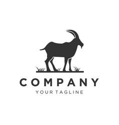 mountain goat logo designs vector image